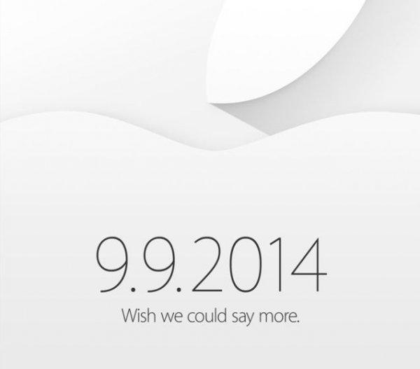 Apple рассылает приглашения на презентацию 9 сентября