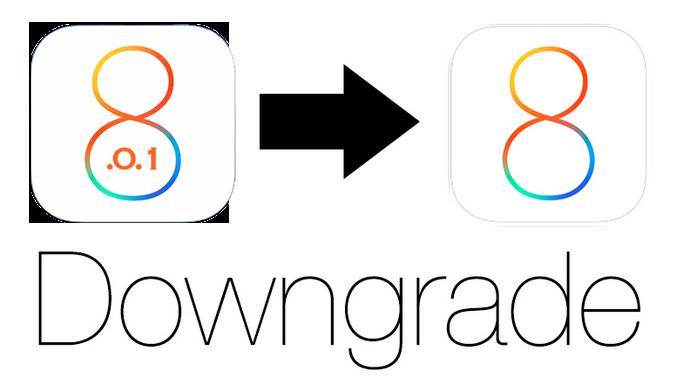 Даунгрейд iOS 8.0.1 до iOS 8.0