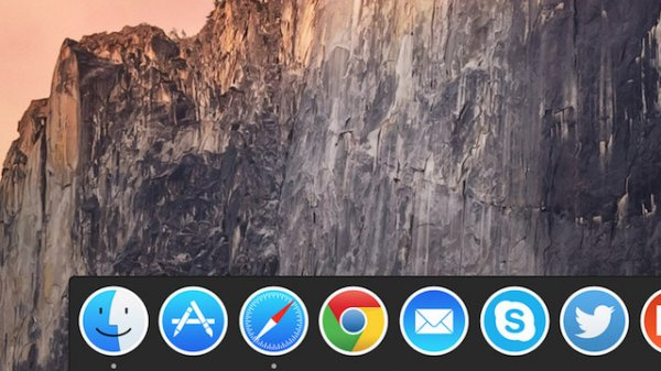 Как сделать Dock в OS X Yosemite темным