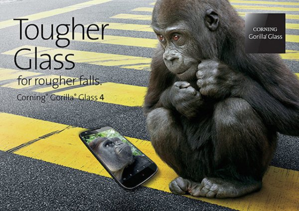 Стекло Gorilla Glass 4 не боится падений на асфальт