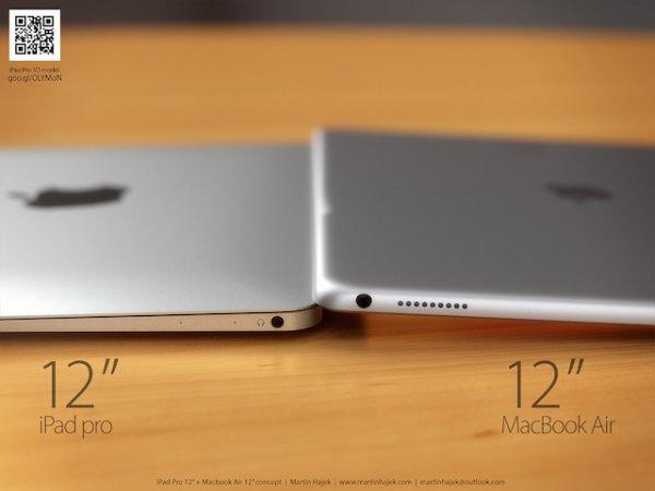 Двойной портрет: iPad Pro и 12-дюймовый MacBook Air