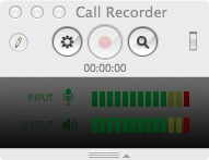 Окно записи Call Recorder for Skype