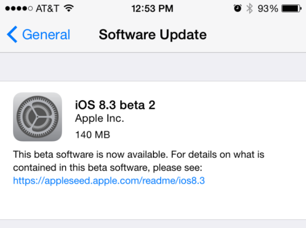 Apple выпустила новую бета-версию iOS 8.3 для разработчиков и публичных бета-тестеров