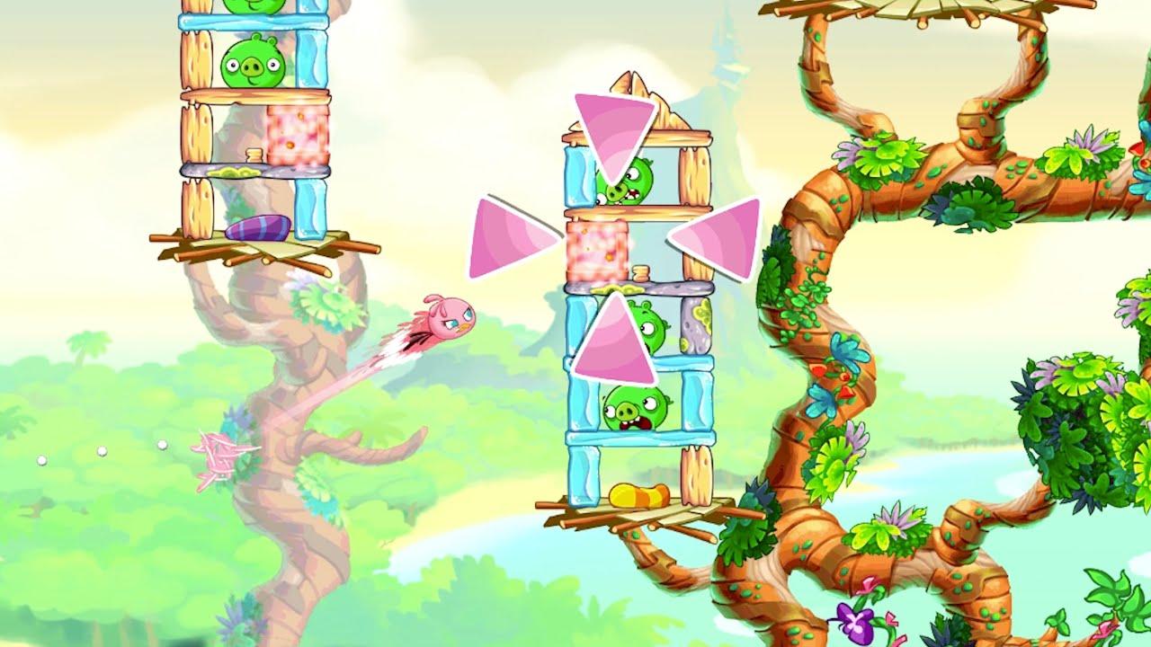 Игровой процесс из Angry Birds Stella