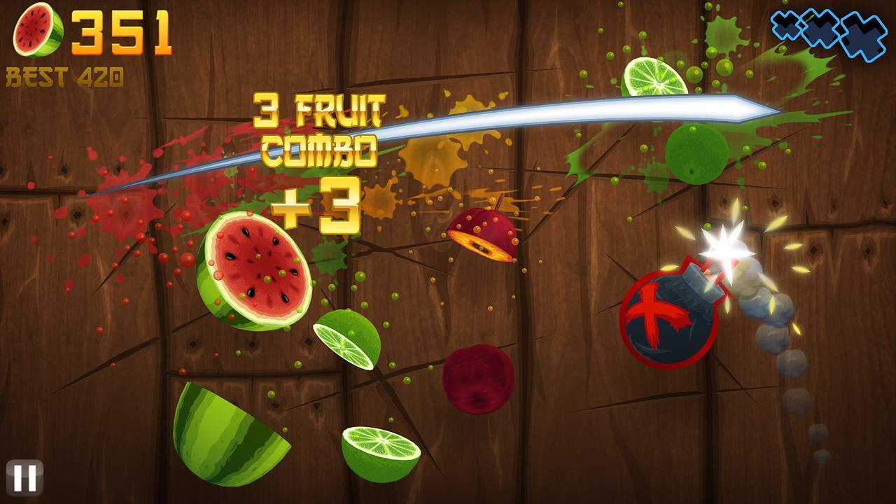 Игровой процесс Fruit Ninja HD