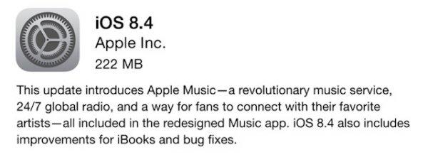 Apple выпустила iO 8.4 с новым приложением Музыка и сервисом Apple Music
