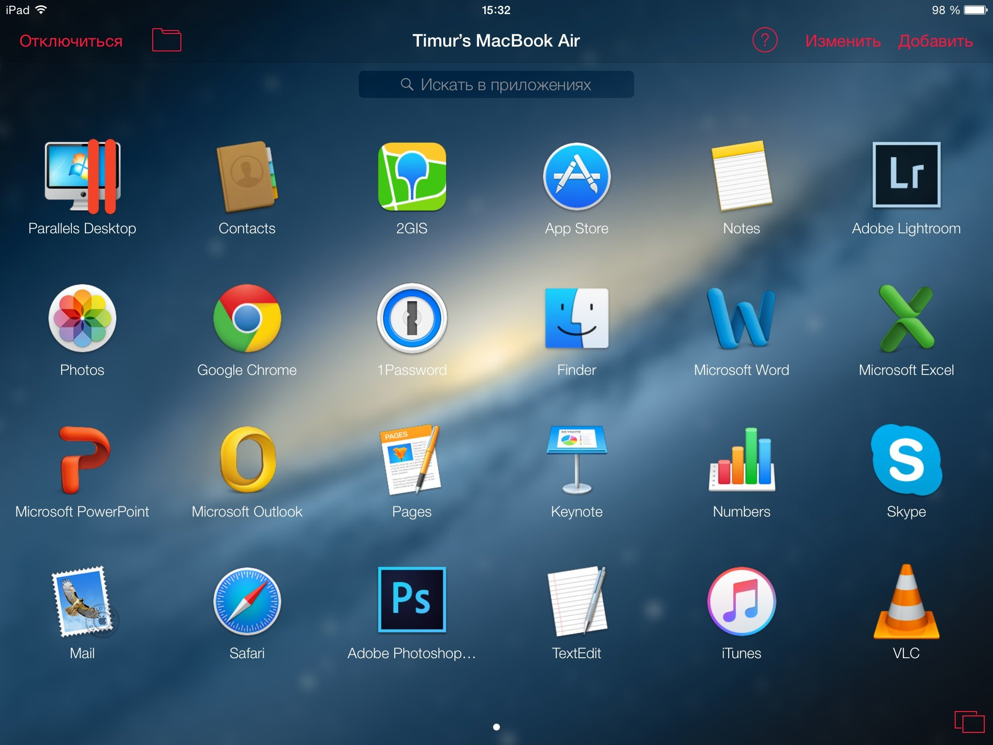 Launchpad Parallels Access