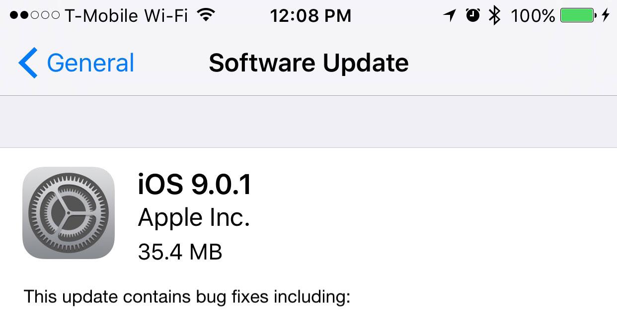 Пока горячо: Apple исправляет проблемы в iOS 9 - Доступен