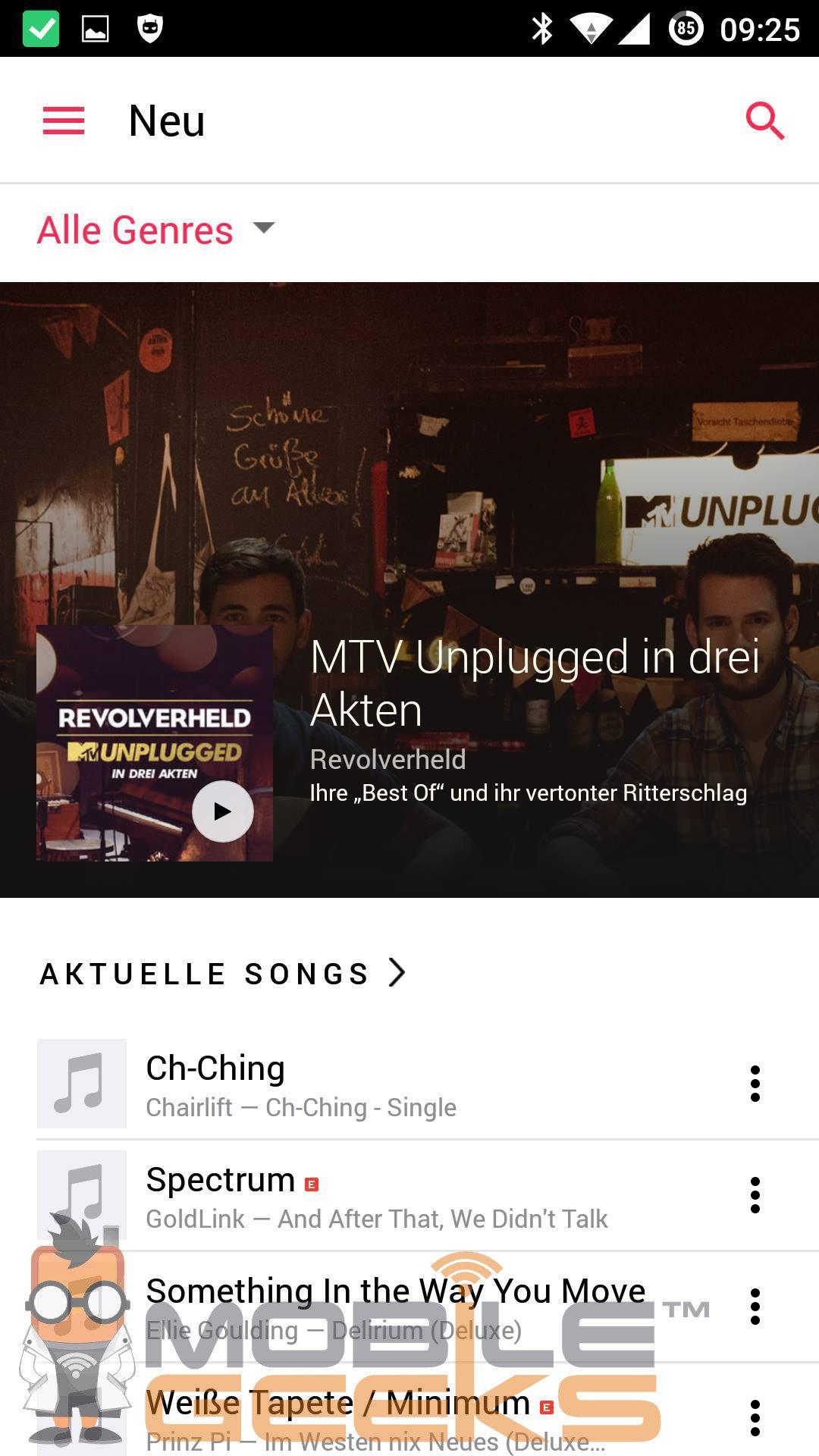 Скриншоты Apple Music для Android