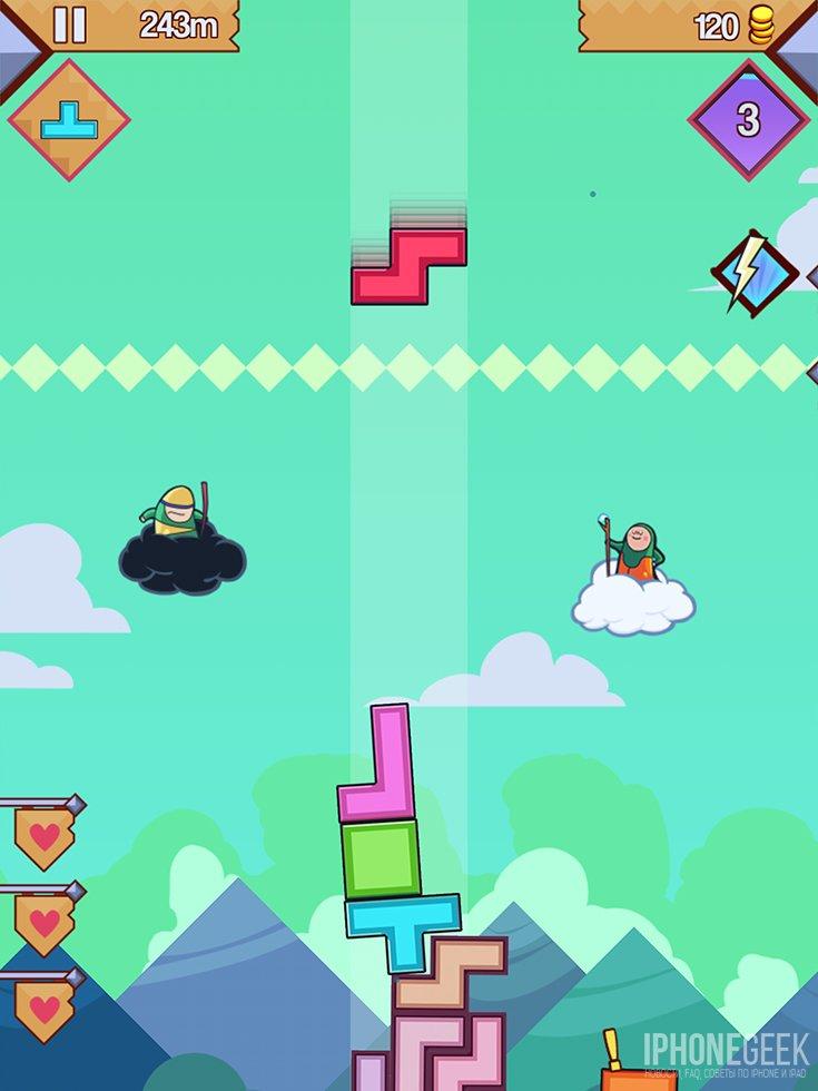 99 Bricks Wizard Academy для iOS - геймплей