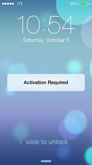 Необходима активация айфона