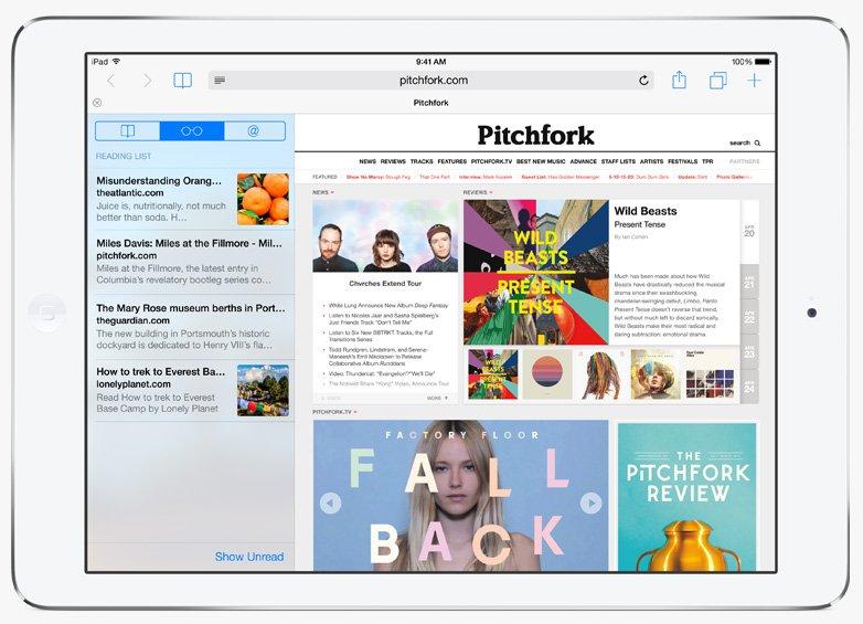 Safari на iPad