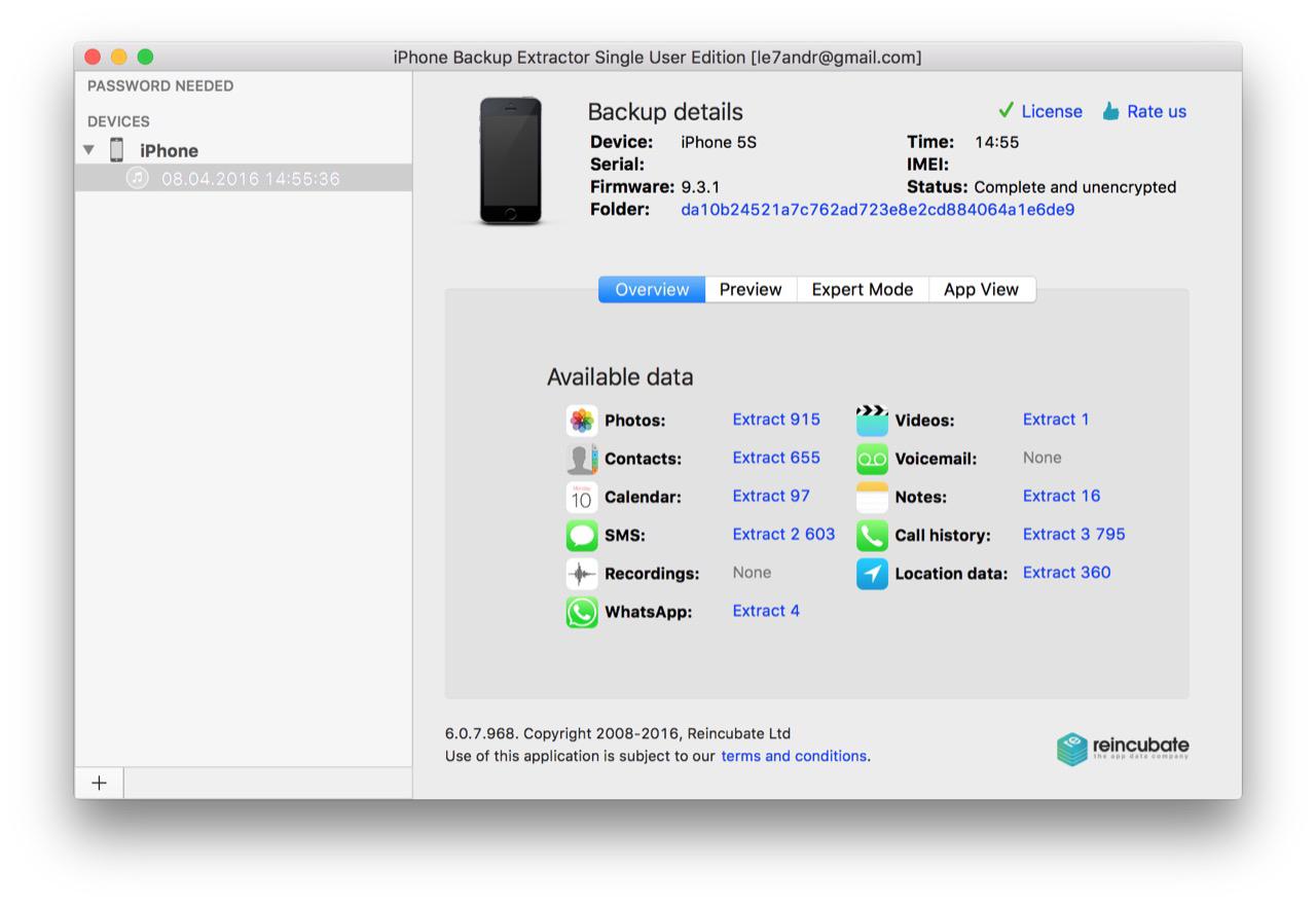 iPhone Backup Extractor - лучший менеджер резервных копий iTunes и iCloud
