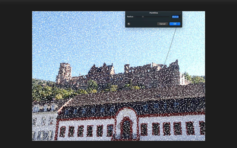 Пример эффекта в Pixelmator
