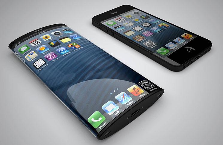 Изогнутый дисплей айфона рендер