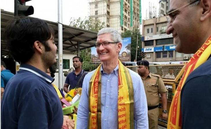 Тим Кук в Индии