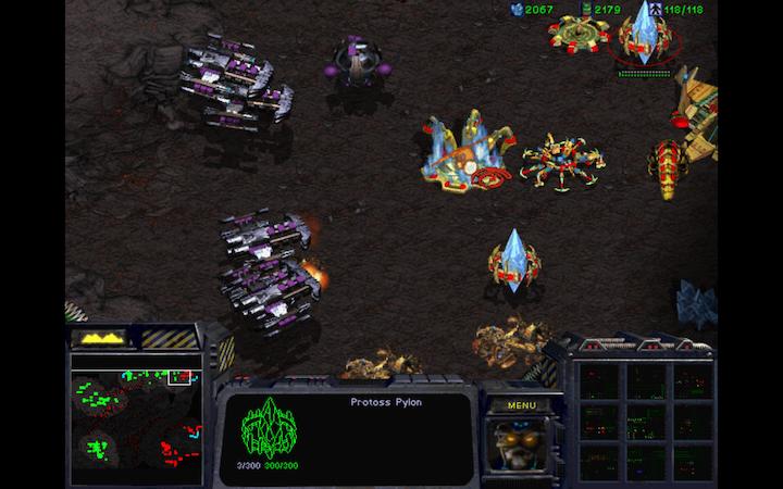 StarCraft Brood War Батлкруизеры атакуют