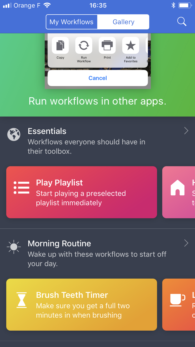 Workflow Gallery