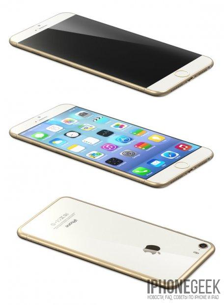 Рендеры iPhone 6 на основании утекших в сеть чертежей