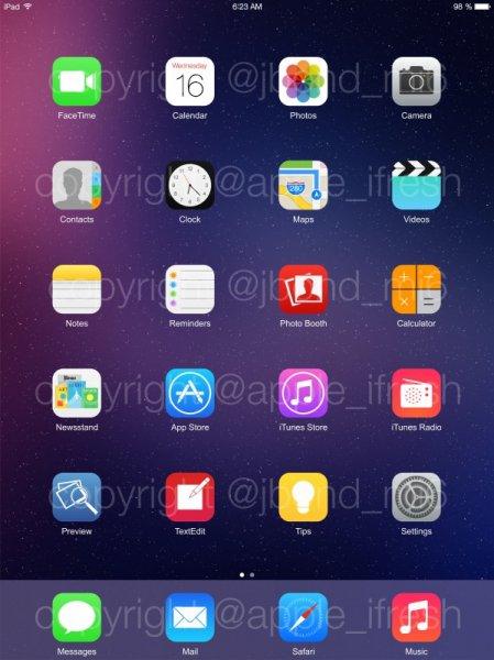 Еще одна порция скриншотов iOS 8