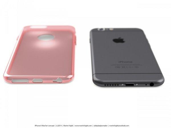 Очередные рендеры iPhone 6 от Мартина Хайека