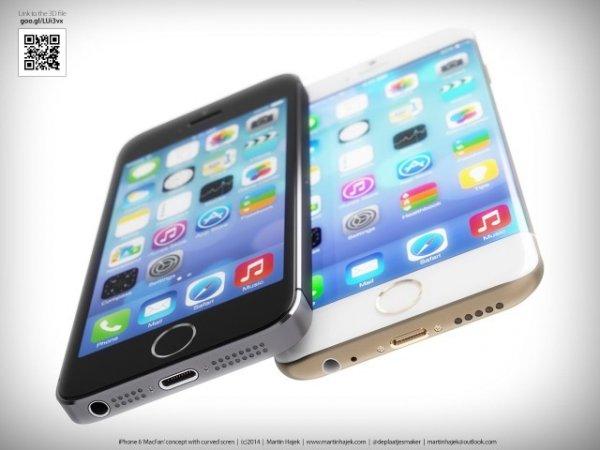 Как выглядит iPhone 6 с закругленными краями и изогнутым дисплеем