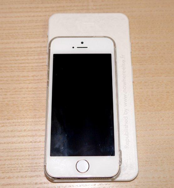 Первый макет 5,5-дюймового iPhone 6 в сравнении с iPhone 5s