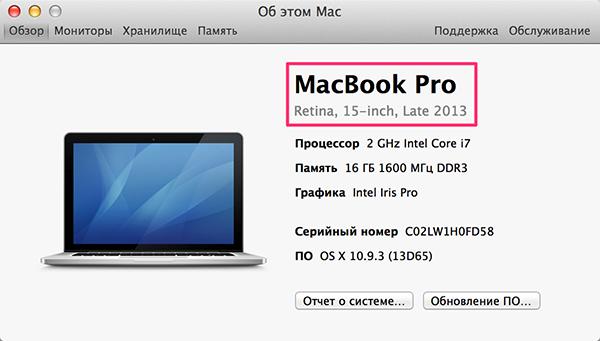 Модель Mac