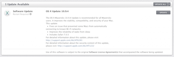 Вышла OS X 10.9.4 Mavericks