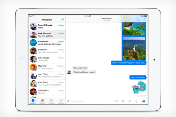 Facebook Messenger наконец-то пришел на iPad