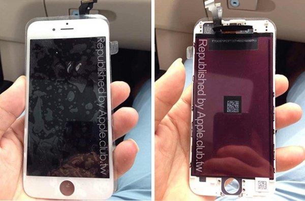 Снимки передней панели iPhone 6 с дисплейным модулем