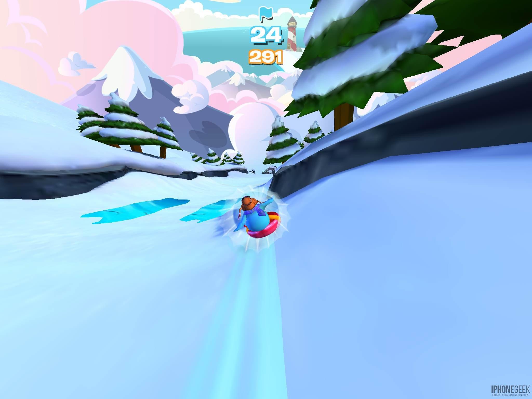 Супер-санки «клуба Пингвинов»: весело несемся вниз по склону горы