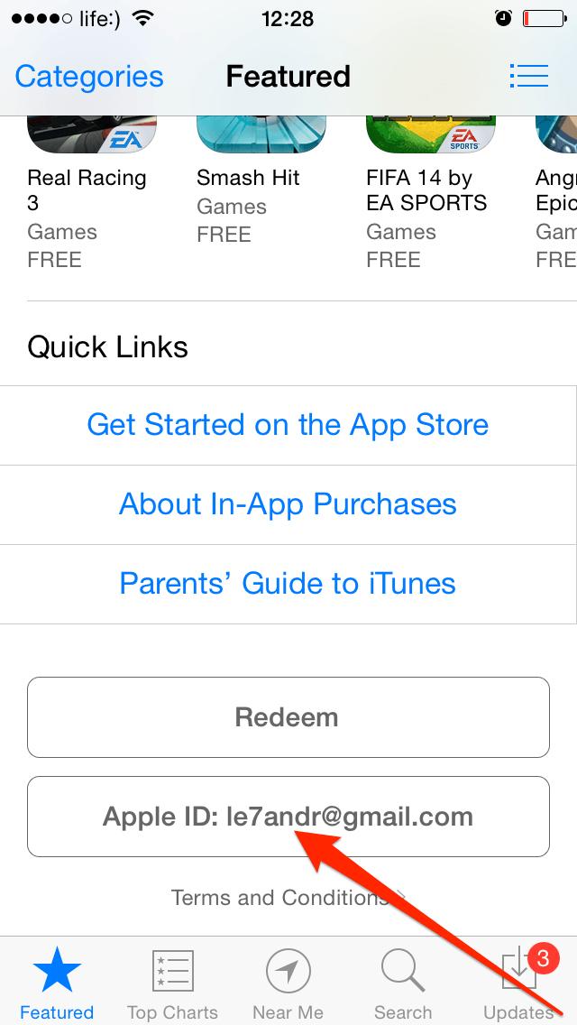Войдите в магазин с имеющимся Apple ID