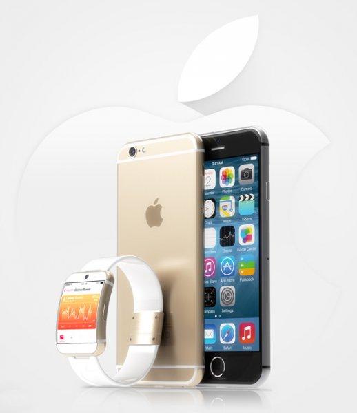 В ожидании анонса. Новые рендеры iWatch и iPhone 6 от Мартина Хайека