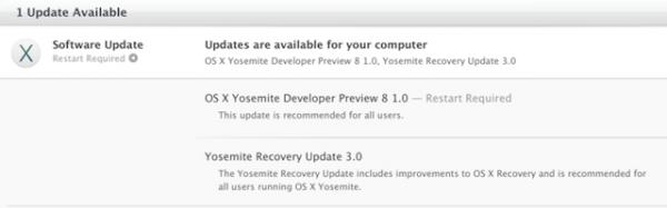 Apple выпустила третью публичную бета-версию OS X Yosemite