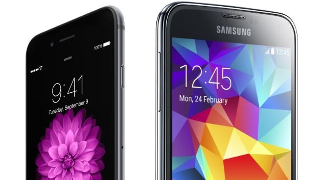 iPhone 6 против Samsung Galaxy S5