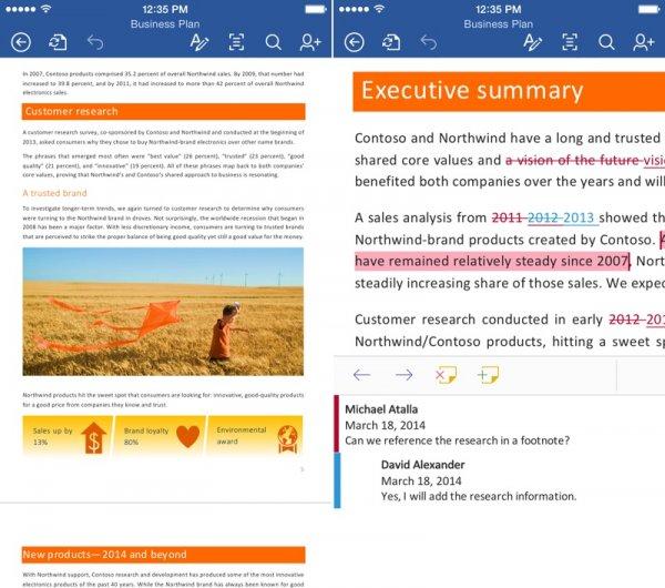 Microsoft Office для iPad и iPhone стал бесплатным