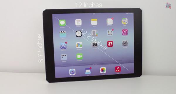 Макет iPad Air Plus сравнили с другими устройствами Apple