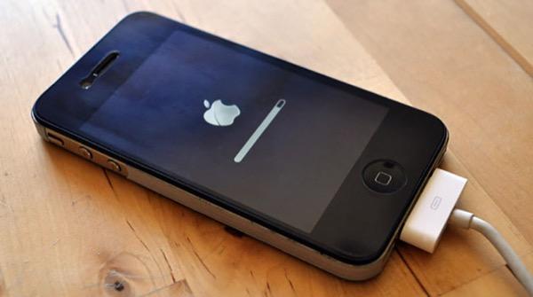 Ошибка в iTunes на 75% восстановления