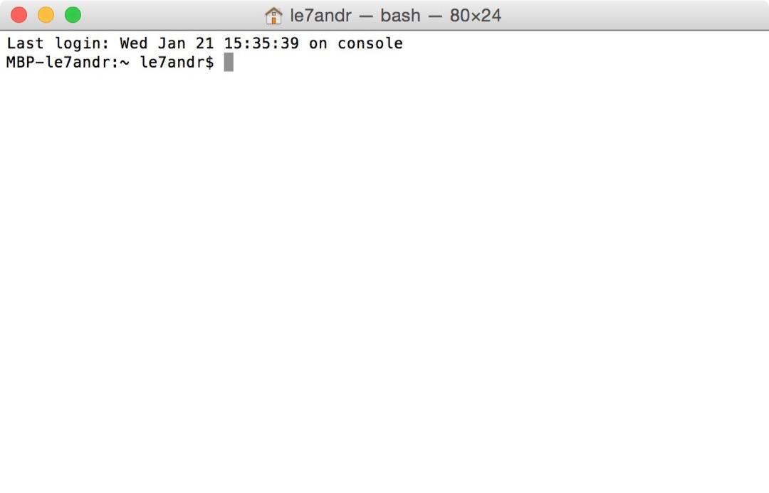Ввод команды на открытие hosts в терминале Mac OS X