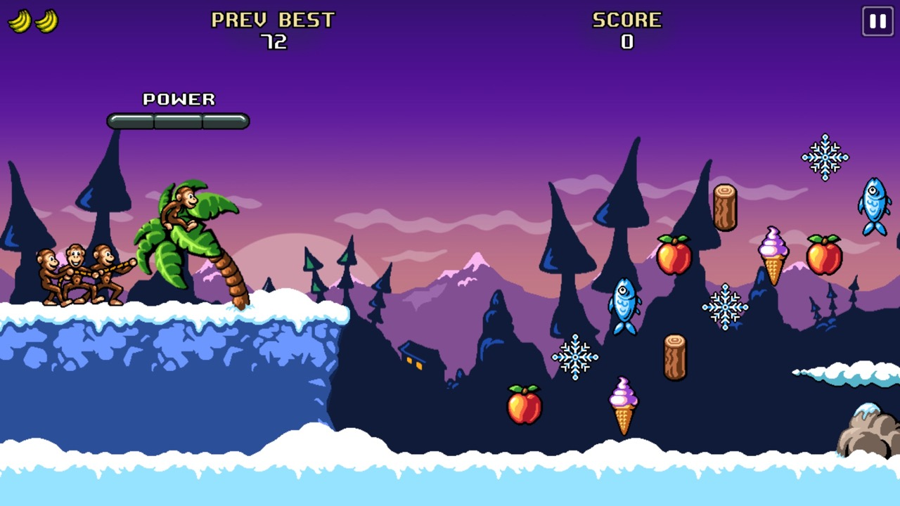 Вид уровня в Monkey Flight 2