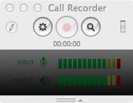 Окно записи Call Recorder for Skype