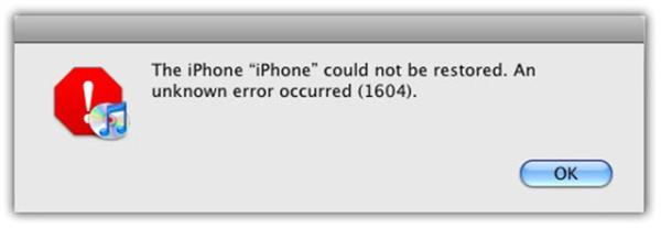 Ошибка в iTunes