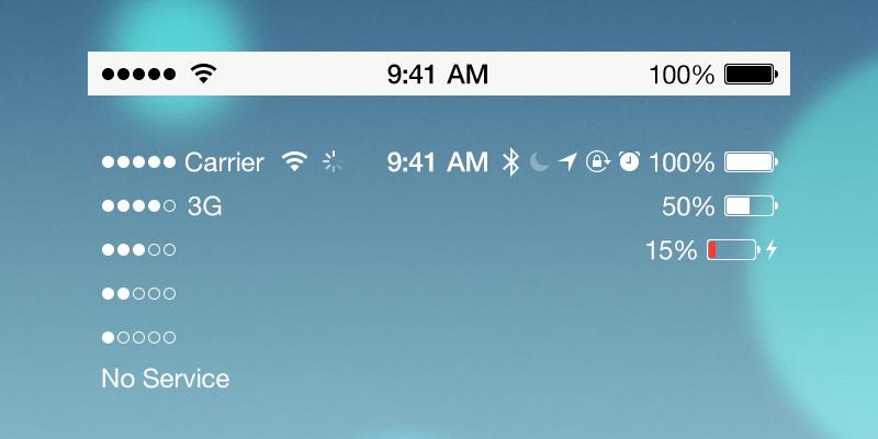Что означают значки в верхней части экрана iPhone в Status Bar
