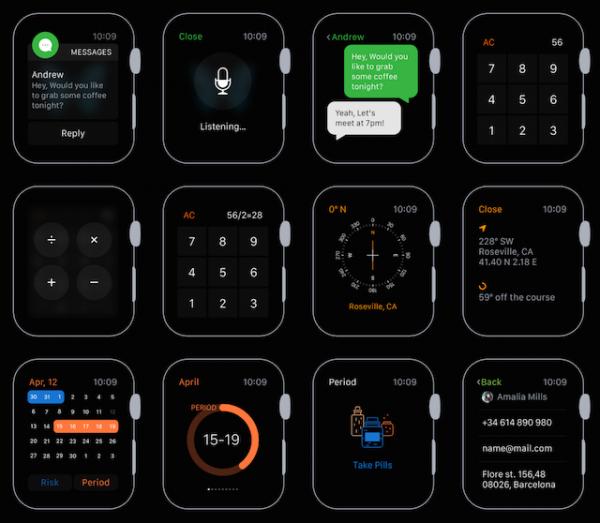 Элементы графического интерфейса Apple Watch могут скачать все желающие
