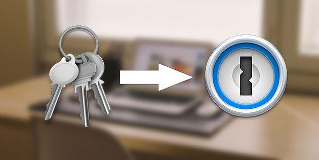 Заглавное изображение инструкции как перенести пароли из Keychain в 1Password