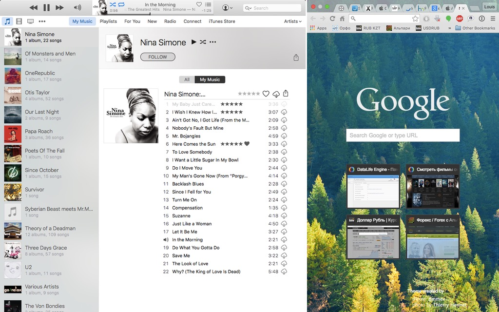 Split View OS X El Capitan