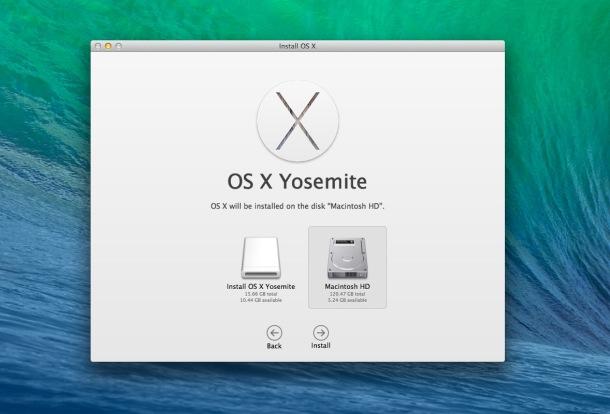 Установка OS X при загрузке