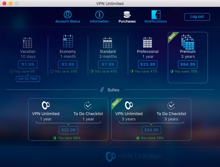 Цены VPN