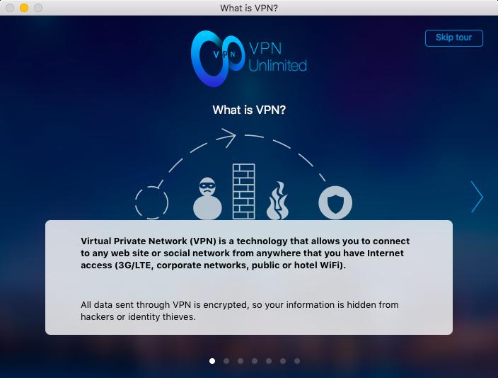 Окно настройки VPN